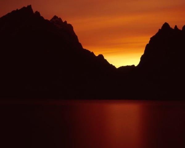 Jenny Lake Right After Sunset