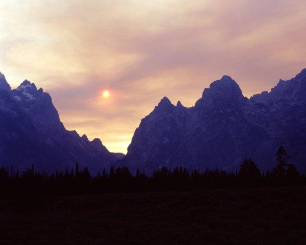 Sun Over Smokey Tetons
